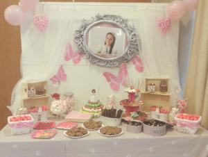 Mesa de dulces o candy bar