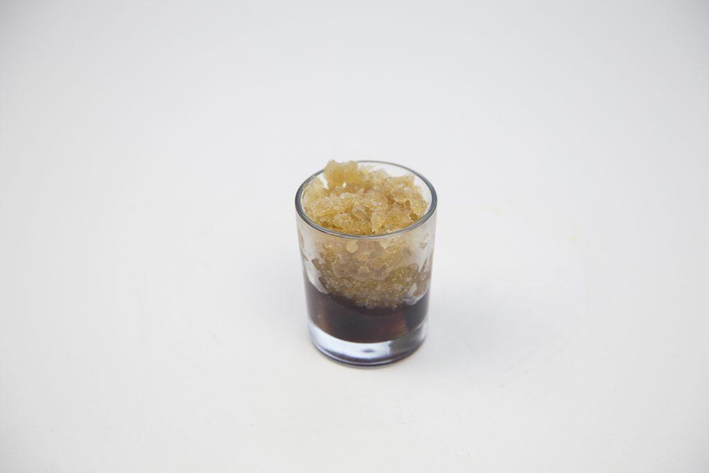Sidra granizada y compota de manzana al vino tinto - Gran Hotel Los Abetos