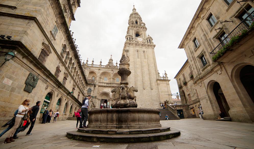 Plaza de Praterías, en Santiago de Compostela