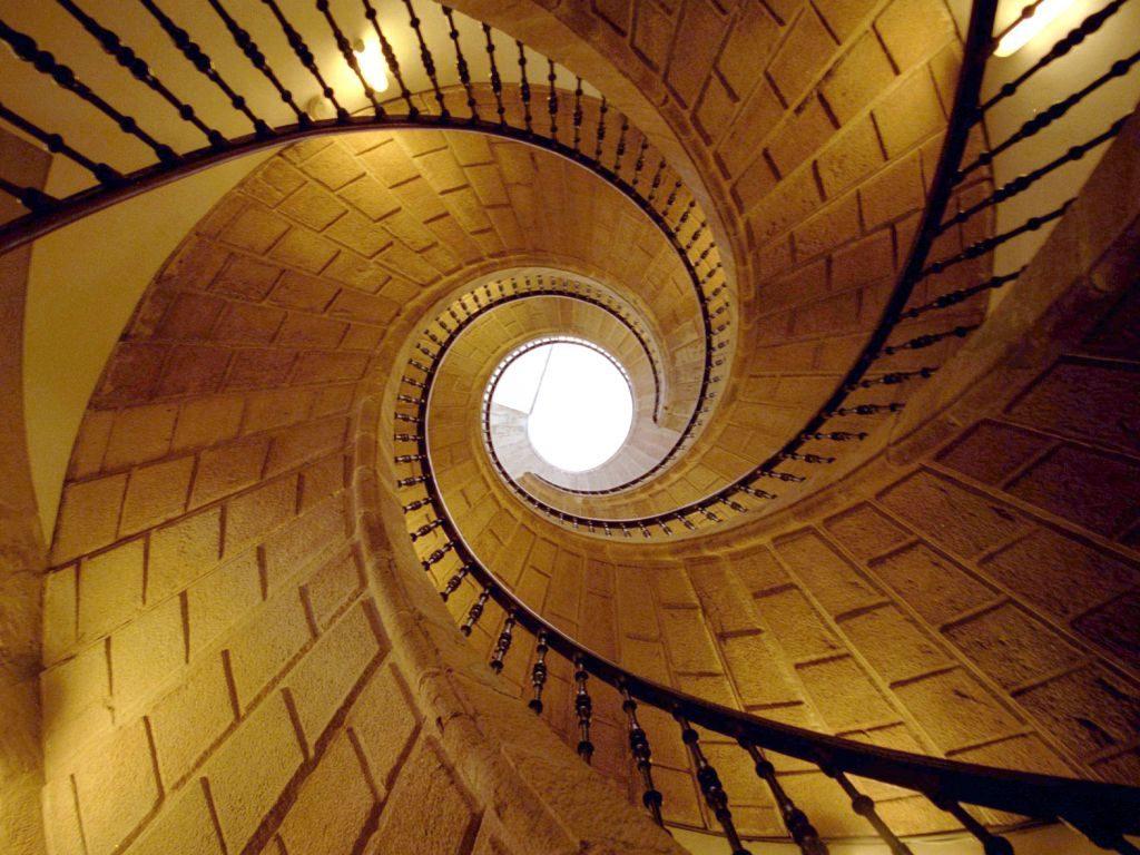 Escalera helicoidal triple del Museo do Pobo Galego // Foto: Museo do Pobo Galego