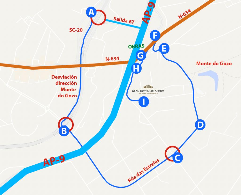 Ruta alternativa para autobuses
