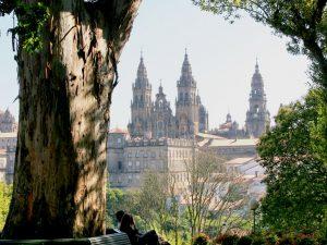 Catedral de Santiago desde la Alameda