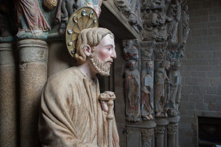 Imagen del Pórtico de la Gloria tras su restauración
