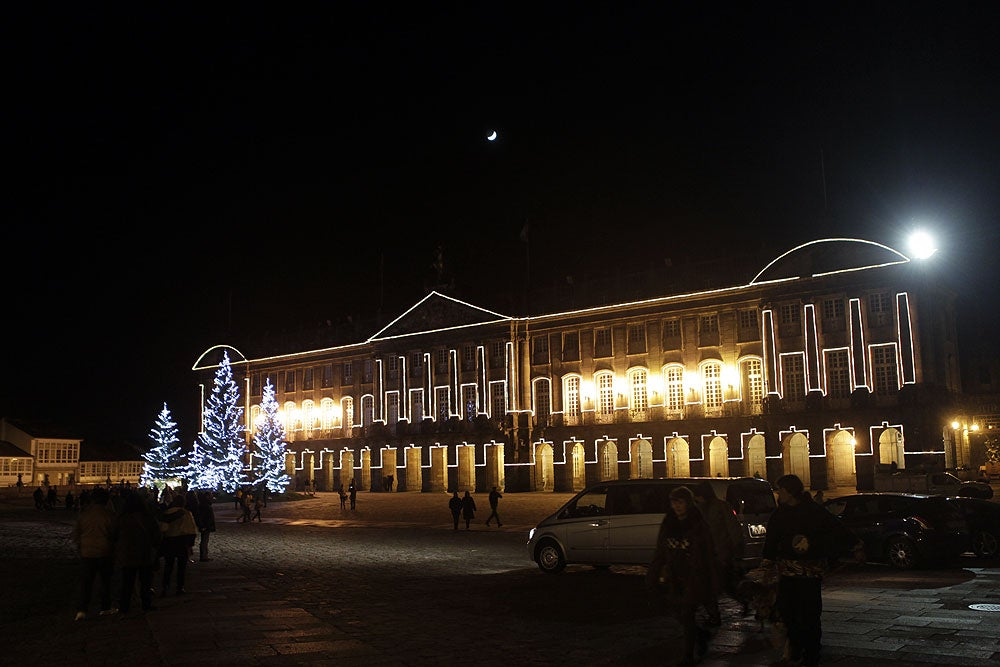 Encendido navideño en Santiago de Compostela